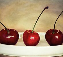 ~ Three Cherries ~ by Lynda Heins