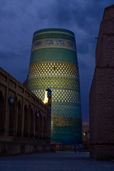 Khiva minaret at dusk by Gillian Anderson LAPS, AFIAP