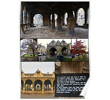 Chipping Campden UK Market Hall collage Poster