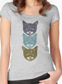 3 Kittens Women's Fitted Scoop T-Shirt