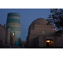 Khiva street at dawn Photographic Print