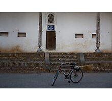 Streetsweeper's bike Photographic Print