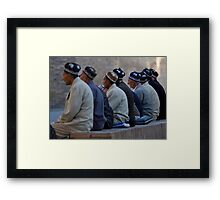 Uzbeks in Khiva Framed Print