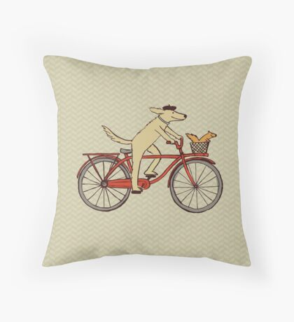 Dog & Squirrel are Friends Throw Pillow
