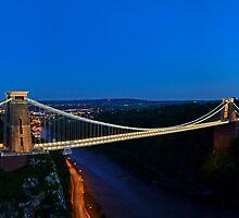 Clifton Suspension Bridge Panoramic by HKart