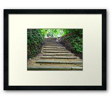 Steep Step's! Framed Print