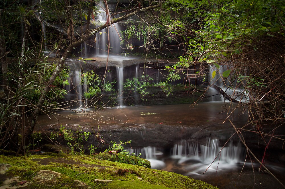 Flat Rock Falls - Sydney suburbia by Derrick Jones