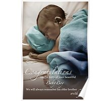Newborn Baby Boy Remembering His Brother Poster