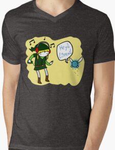 Hey Listen!! Mens V-Neck T-Shirt