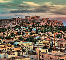 Greece. Athens. Acropolis in the evening. by vadim19