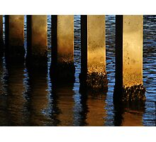 Pier Reflections From Jupiter Photographic Print