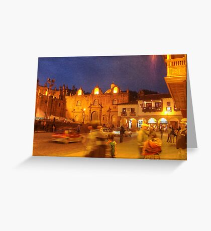 Cusco Night Life- An Evening at Paddy's Pub  Greeting Card