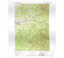 USGS Topo Map Oregon Sweet Home 282935 1951 62500 Poster