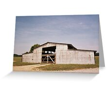 White Barn On Field in Cowtown, NJ Greeting Card