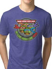 Angry Mutant Ninja Birds Tri-blend T-Shirt