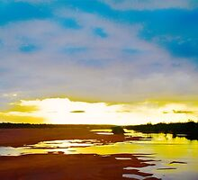 Dry Season Sunset by h2oImagery