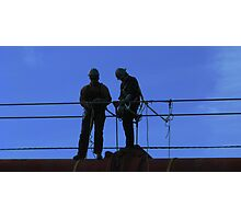 Bridge Workers Photographic Print