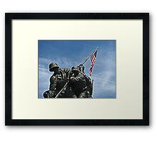 A Salute to our Marines Framed Print