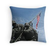 A Salute to our Marines Throw Pillow
