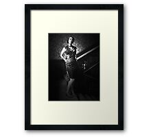 1940's style woman Framed Print