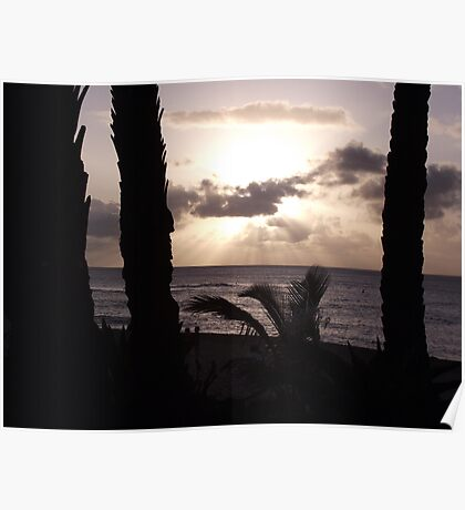 Sun Set Beach Poster