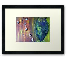 What I See (in the shade) Framed Print