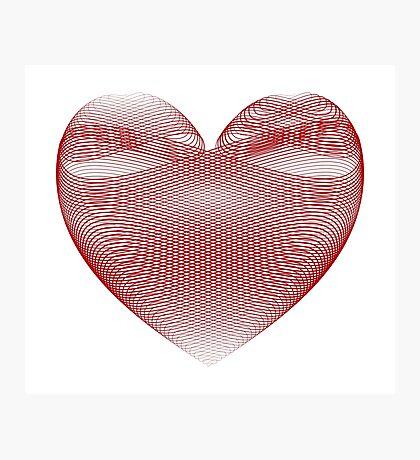 Calligraphic Heart Photographic Print
