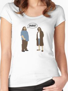 The Dudes (Lost / Big Lebowski Shirt)  Women's Fitted Scoop T-Shirt