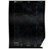 USGS Topo Map Oregon Jordan Valley 20110824 TM Inverted Poster