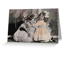 GIRL WITH COLLIE Greeting Card
