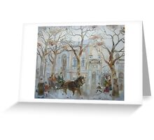 vintage city landscape Greeting Card