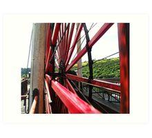 Wheels A'Turning - Laxey Wheel Art Print