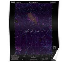 USGS Topo Map Oregon Sellers Marsh 281438 1999 24000 Inverted Poster