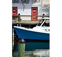 Red Over Blue Fishing Village Photographic Print