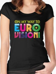 On my way to Eurovision Women's Fitted Scoop T-Shirt