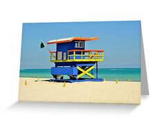 Lifeguard Station Greeting Card