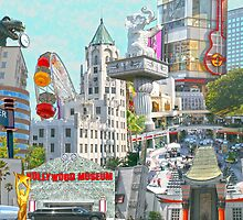 Hollywood City-Scape Collage by Inga McCullough