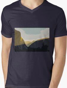 Layer Gold on El Capitan Mens V-Neck T-Shirt