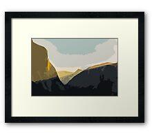 Layer Gold on El Capitan Framed Print