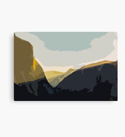 Layer Gold on El Capitan Canvas Print