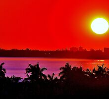 Tropical Sunset by Rene  Triay