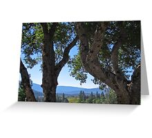 Oaks and hills- Bob's place- North Fork CA Greeting Card
