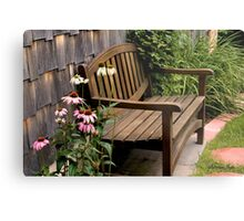 The Sheltered Bench Metal Print