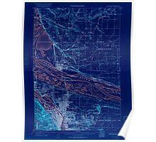USGS Topo Map Oregon Portland 282797 1905 62500 Inverted Poster