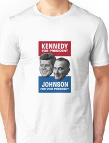 Kennedy And Johnson 1960 Election Unisex T-Shirt