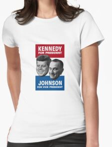 Kennedy And Johnson 1960 Election Womens Fitted T-Shirt