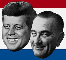 Kennedy And Johnson 1960 Election by warishellstore