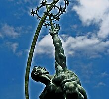 "Statue of ""The Rocket Thrower"" by michael6076"