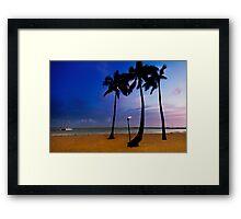 Duke Kahanamoku Beach Framed Print