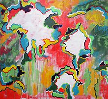 """""""Good-Bye Barcelona"""". 30 x 24. Abstract Painting. by csoccio100"""